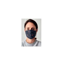Mondkapje grijs print wasbaar | 50x Herbruikbare mondmaskers