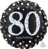Folieballon birthday sparkling 80 (73cm)