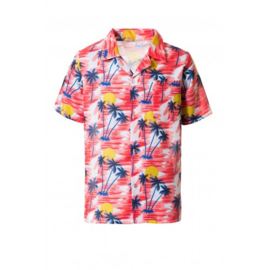 Hawaii shirt tropisch rood