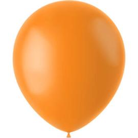 Ballonnen Tangerine Orange Mat 33cm - 50 stuks