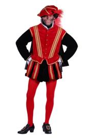 Pieten kostuum luxe rood
