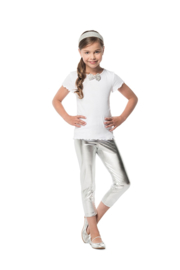 Kinder legging zilver