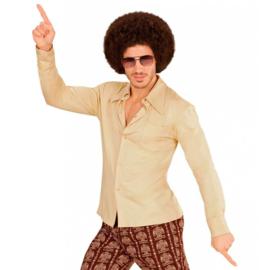 Groovy 70's  heren shirt beige