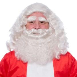 Kerstman baardset kanekalon deluxe