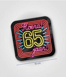 Neon onderzetters 65 jaar