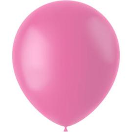 Ballonnen Rosey Pink Mat 33cm - 50 stuks