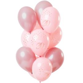 Ballonnen Elegance lush blush 30 jaar