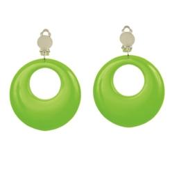 Oorbellen neon groen
