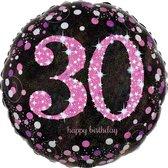 Folieballon HBD sparkling pink 30 (45cm)