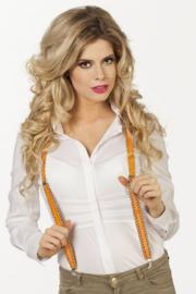 Bretels pailetten oranje