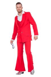 Disco fever kostuum rood