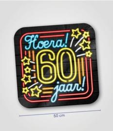 Deurbord neon 60 jaar