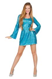 Disco jurkje elegance aqua