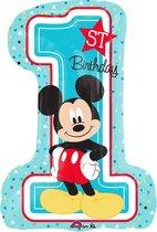 Folieballon Mickey '1st BDAY' SuperShape