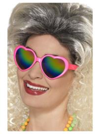 Regenboog harten bril