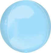 Folieballon Orbz pastelblauw (40cm)
