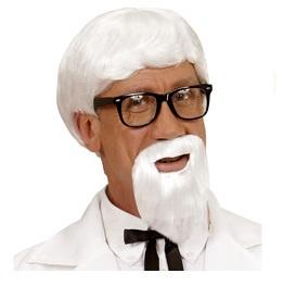 Pruik KFC met baard