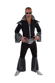 Disco koning zwart zilver (op=op)