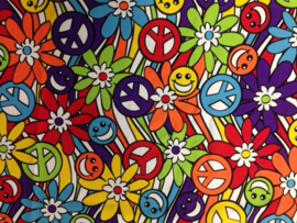 Sjaal / Hoofdband hippie smile