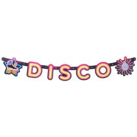 Kartonnen letterslinger 'Disco' (120 cm)