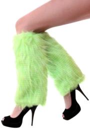 Beenwarmers plushe fluor groen
