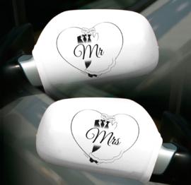 Spiegelhoezen Mr. en Mrs.