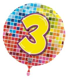 3 jaar folieballon blocks excl.
