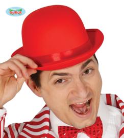 Bol hoed satijn rood
