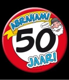 Button XL 50 jaar Abraham