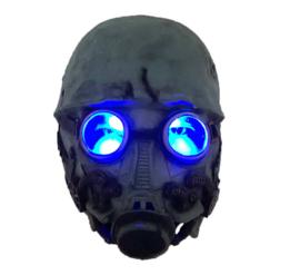 Horror gasmasker met licht