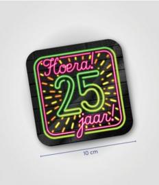 Neon onderzetters 25 jaar