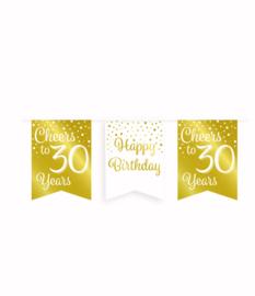 Party vlaggenlijn goud/wit - 30