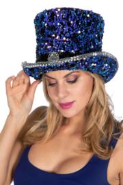 Hoge hoed luxe pailletten