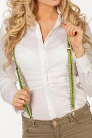 Bretels pailetten groen