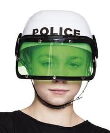 Politiehelm met vizier