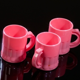 Shotglaasjes 2,5cl. roze 10 stuks