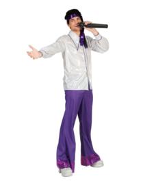 Disco broek glitter paars