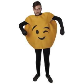 Knipogende emoticon kostuum