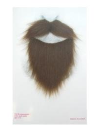 Snor en baard bruin
