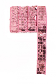 Paillettenband recht licht roze 3m