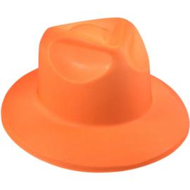 Oranje foam hoed