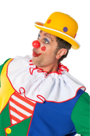 Clowns hoed dots geel