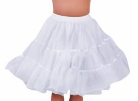 Petticoat kniehoogte wit op=op