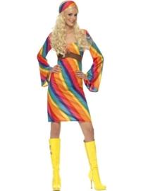 Regenboog jurkje groovy