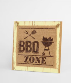 Wooden sign - BBQ Zone |