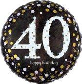 Folieballon birthday sparkling 40 (45cm)