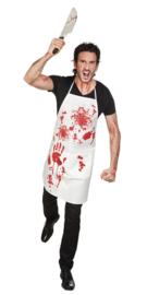 Bloederig slagersschort