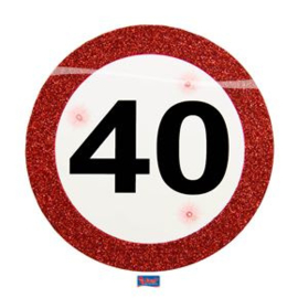 Led party badge traffic sign 40 jaar