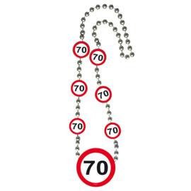 Ketting verkeersbord 70 jaar