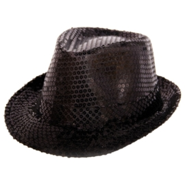 Tribly hoed zwart paillet